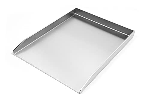 Stahl-Manufaktur Grillplatte/Plancha 400x300 massiv Edelstahl