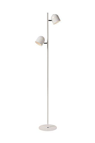 Lucide SKANSKA-LED - Lampadaire - LED Dim. - 2x5W 2700K - Blanc