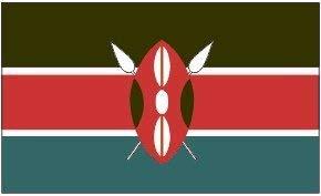 Zudrold Kenia Flagge 3ft x 5ft Nylon im Freien