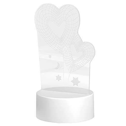 3D Lampe, LED Nachtlicht Dekorativ für Verliebte für Weihnachtsgeschenke für Freunde für für Valentinstagsgeschenke