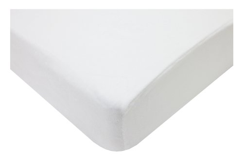 American Baby Company Heavenly Soft Chenille Fitted Crib Sheet for Standard Crib and Toddler Mattresses, White, for Boys and Girls, Pack of 1
