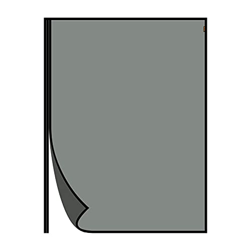 MAGZO Magnet Screen Door Fits Door Size 72 x 80 Inches(Black),Upgraded Fiberglass Side Opening Magnetic Sliding Door Screen, Broader View, Fits Glass Garage Double Doors