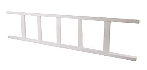 Vintage Möbel 24 GmbH 1x Schöne Leiter aus Holz, schön als Handtuchhalter oder zum Dekorieren (Weiß, 165cm)