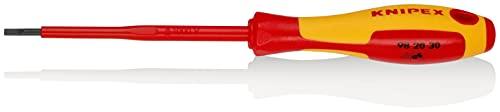 KNIPEX Schraubendreher für Schlitzschrauben 1000V-isoliert (202 mm) 98 20 30