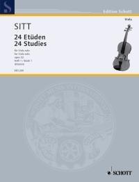 SITT - Estudios (24) Op.32 Vol.1: 12 Estudios en 2ª y 3ª Posicion para Viola (Klemm)