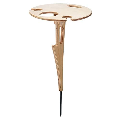 Mesa de vino plegable al aire libre, mini mesa de picnic de playa, adecuada para fiestas de jardín, viajes de camping