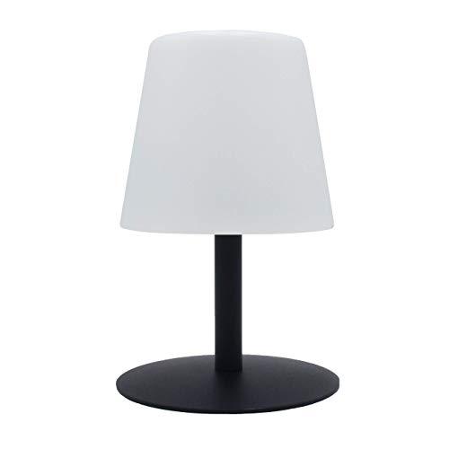 Lumisky Lampe De Table De Jardin Lumière Blanche Sans Fil Sur Batterie Standy Mini Dark à Led 26cm Abs Noir 15x15xh26