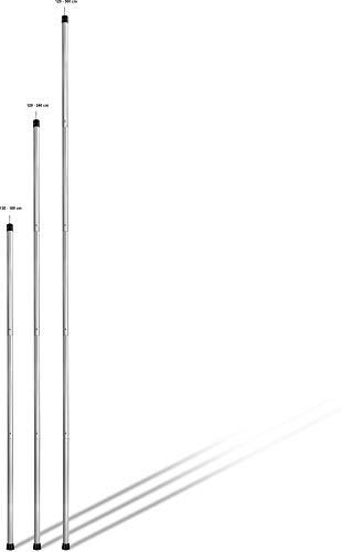 normani Outdoor Sports Zeltstange Aufstellstange Stützstange aus Alu 120 cm bis 300 cm Farbe 2 Stück Größe 240 cm