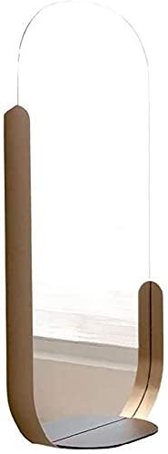 ZHANGCHI. Badezimmerspiegel Semi-Ellipse Make-up Spiegel Dekorativer Spiegel mit Lagerung für Badezimmer, Schlafzimmer & Wohnzimmer (Size : 45 * 90 cm)