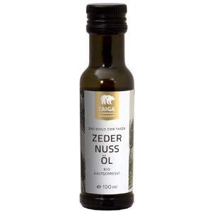 Taiga Naturkost - Sibirisches Zedernuss-Öl - Bio - Kaltgepresst - 100 ml