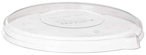 ECOFAMI deksel plat fit EF042 I 100% hernieuwbaar, gemaakt van PLA, kunststof van plantaardige oorsprong I capaciteit schaal schaal 24–32 oz I capaciteit schaal Noddle 16–32 oz I 50 stuks