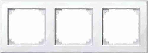 Merten 478319 polarw M-SMART-Rahmen,3fach, polarweiß glänzend
