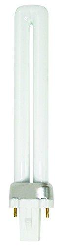 Luxrite LR20275 (6-Pack) CF9DS/841 9-Watt Single Tube Compact Fluorescent Light Bulb, Cool White 4100K, 600 Lumens, G23 Bi-Pin Base
