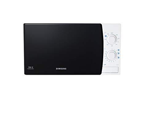 Samsung Ge711K/Xec Microondas con grill de 20 L, interior de cerámica, 1100 W, 20 litros, Negro y blanco
