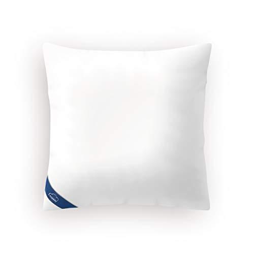 Genius eazzzy Kopfkissen 80x80 cm - orthopädisches Schlafkissen für den ruhigen Schlaf aus Milchfaser mit Aloe Vera - Kissen Allergikergeeignet stützend Oeko-TEX Nacken-Kissen