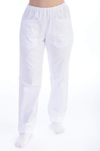 GIMA - Pantalón de Uniforme de Hospital, algodón y poliéster, Color Blanco, con Cintura...