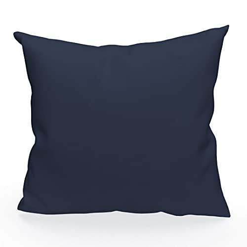 Soleil d'ocre 526240 ALIXFunda de cojín 60x60 cm Alix Azul Marino
