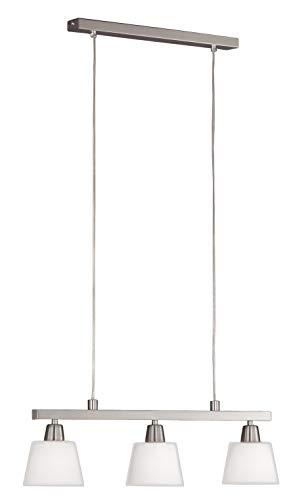Wofi Pendelleuchte-Mali, 3-flammig, Nickel-matt, Länge-57 cm, 7204.03.64.0000