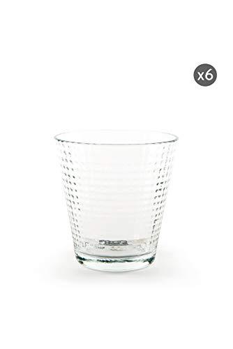Excelsa Oslo - Juego de 6 vasos de agua, vidrio prensado