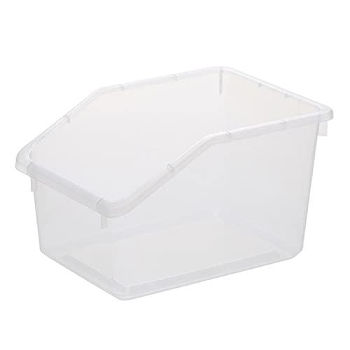 WHAIYAO Cocina Caja De Contenedores De Nevera Frutas Y Vegetales Almacenamiento En Frio Caja De Almacenamiento De Plástico Diseño De Mango, 2 Colores(Size:25x18x15cm-1pcs,Color:Transparente)