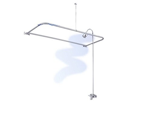 Where to buy Claw Foot Tub Wall Mounted Shower Curtain Rod Add a