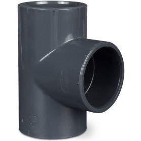 T 90 Grad, Durchmesser 40 mm, für Wasserhähne aus PVC, LAGHETTO STAGNO PISCINA