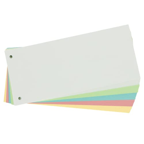 Limit Trennstreifen, sortiert, gelocht, 180 g/m², 5 Farben, 100 Stück, Bunt, 240 x 105 mm, 400158290