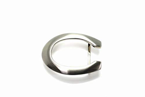 [ベルラベル] シルバー バックル 01 C型 35mm 3.5cm幅ベルト用 メンズ ベルト 交換用 バックルのみ