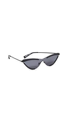 Adam Selman Women's The Scandal Sunglasses, Satin Black, One Size