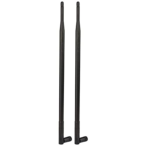 Bnwoinb Antenna WiFi 12DBi 2.4GHz con Connettore RP-SMA per Router di Rete Ecc. Confezione da 2