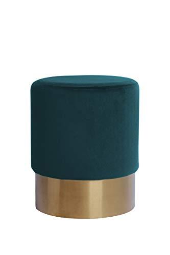 V Vascavi Hocker in stilvollem Design | als Schminktisch Sitzhocker Pouf Sitzpouf Pouf Schminkhocker | Grün/Petrol