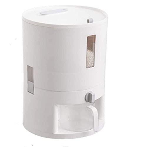 Getreide-Aufbewahrungsbox Getreidebehälter Reis-Aufbewahrung Automatischer Kunststoff-Getreide-Spender Reis-Aufbewahrungsbox Messbecher Küche Lebensmitteltank Reisbehälter Getreide-Aufbewahrungsdose