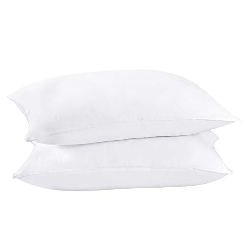 Dreamhood Down and Feather Pillows for Stomach Sleepers,Soft Bed Pillows for Neck and Shoulder Pain Relief King Size (2 Pack)