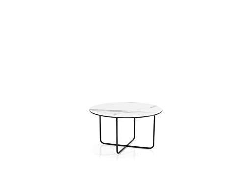 LIBEROSHOPPING.eu - LA TUA CASA IN UN CLICK Tavolino Tondo Jon Effetto Marmo Bianco 60