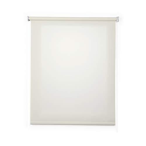 Stores Deco Estor Enrollable traslúcido Liso, Estor para Ventanas y Puertas (60 cm x 180 cm, Crudo)