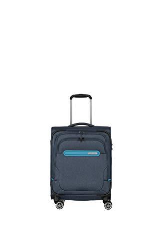Travelite travelite: Madeira – sehr leichte Trolleys, Trolley-Taschen, Reise- und Bordtaschen plus Weekender Koffer, 55 cm, 37 Liter, Marine/Türkis
