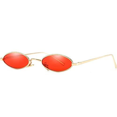AMFG Gafas de sol retro Gafas de sol del borde delgador del arte del borde delgada del borde del marco (Color : D)