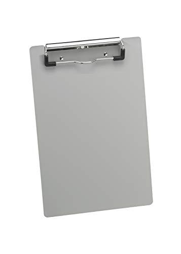 Läufer 21510 Aluminum Klemmbrett für DIN A5, extra starke und flache Klemme, stabile Schreibplatte, Hängeclip, abgerundete Ecken, silber