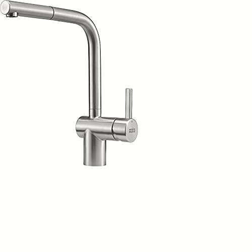 Franke Kitchen Sink tap Made spout Atlas NEO Pull-Out-Stainless Steel 115.0521.438, Grey