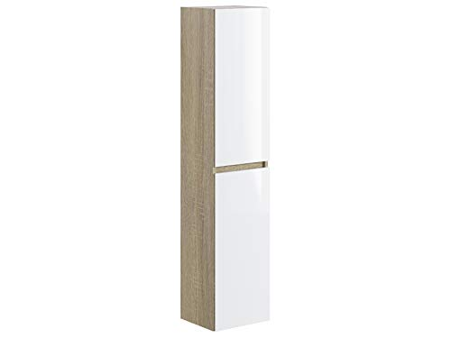 Marca Amazon - Movian Argenton - Columna de baño, 30 x 27 x 140 cm, marrón