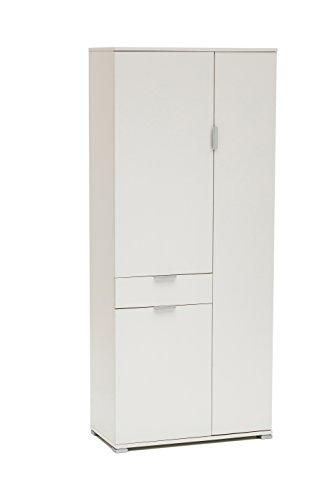 MeMi Me400BIA Armadio, Legno, Bianco, 36.5x75x174 cm