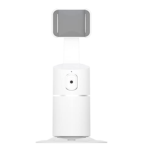 DigitCont Face Tracking Tripod, Phone Holder, 360° Rotation, AI Auto Face Object Tracking Selfie Stand, Best for Live Stream, Tiktok, Compatible with iPhone Android Phone (White)