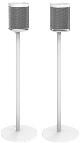 ynVISION Floor Stand for Sonos One, One SL, and Play:1 Speaker | 2 Pack | YN-ONE Pair (White)