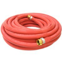 Continental 5/8-inch x 100-feet All-Weather Rubber Water Garden Hose,Made in USA