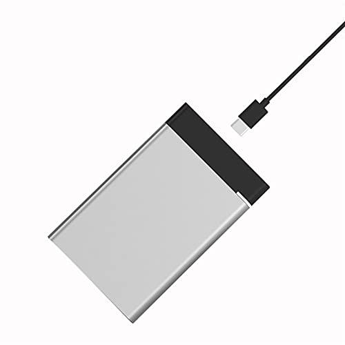 Disco duro externo de metal de 2 tb/500 gb/320 gb/120 gb, USB 3.0 de 2,5 pulgadas de almacenamiento de copia de seguridad, apto para PC de escritorio, portátil, Ps4, Xbox One, Smart Tv (gris, 160 GB)
