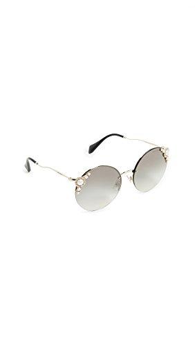 Miu Miu 0MU52TS VW75O0 60 Gafas de sol, Dorado (Pale Gold/Grey Silver), Mujer
