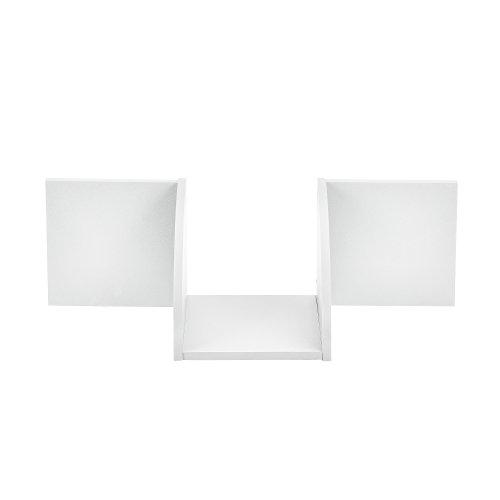 [en.casa] Estantería de Pared estilosa Blanco Mate diseño Retro