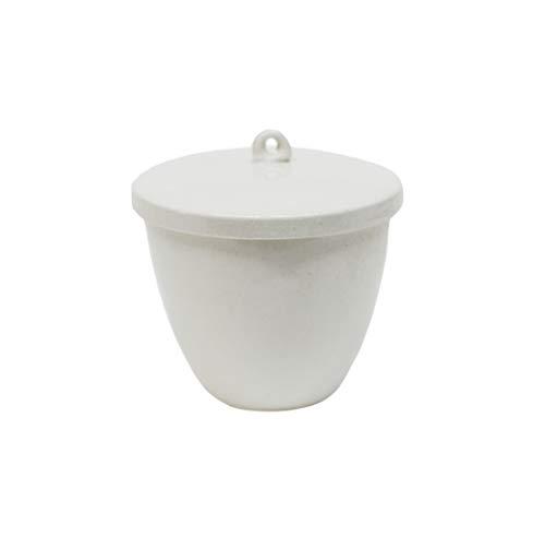 LLF Porzellan-Tiegel, mit Deckel für Labor, 20 ml, 30 ml, 40 ml, 70 ml, 100 ml, 200 ml, 300 ml