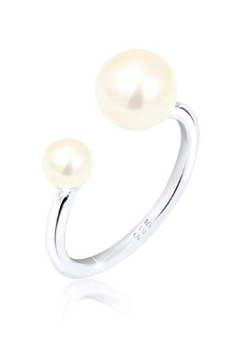Elli Ring Süßwasserzuchtperle 925 Sterling Silber