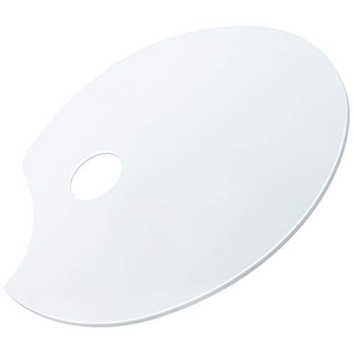 Crostice Clear Acrylic Paint Palette 10.5 x 15 Inches Oval Non-Stick Easy Clean Paint Pallet for Acrylic Oil Paints Mixing